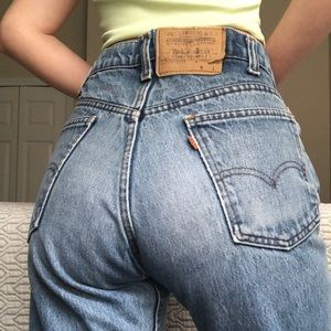 Levi's Orange Tab Mom Jeans